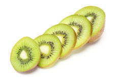 Kiwi fruit in a white background Stock Photography