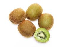 Kiwi fruit in a white background Royalty Free Stock Images