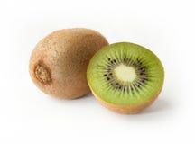Kiwi fruit on white background. Ripe juicy kiwi fruit on white background Royalty Free Stock Photo