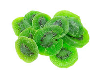 Kiwi Fruit On White Background secado Imagem de Stock