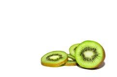 Kiwi fruit on white background Royalty Free Stock Images