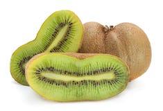 Kiwi fruit on white Royalty Free Stock Image