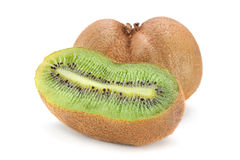 Kiwi fruit on white Stock Photos