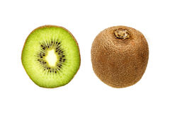 Kiwi fruit whole and in half stock photo