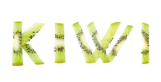 Kiwi fruit word Stock Photography