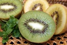 Kiwi fruit yellow and green Stock Photo