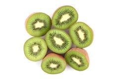 Kiwi fruits. Isolated on white Stock Images