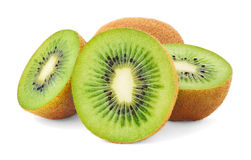 Isolated kiwi fruits royalty free stock photos