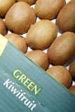Kiwi fruits. Close-up of fresh kiwi fruits in the box Stock Photo