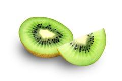 Kiwi Fruits. Half cut isolated on white Royalty Free Stock Images