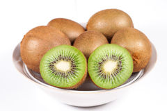 Kiwi fruits in bowl Stock Photo