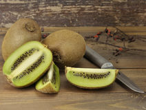 Kiwi Fruits Close Up Stock Images