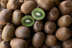 Kiwi fruits on the counter for sale in a vegetable shop. Stock Photography