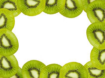Kiwi fruits frame Royalty Free Stock Images