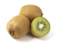 Kiwi fruits isolated on white background.  Royalty Free Stock Image