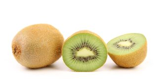 Kiwi fruits isolated on white background Stock Image