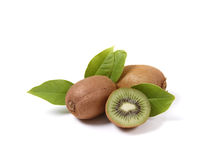 Kiwi fruits isolated on white Stock Image