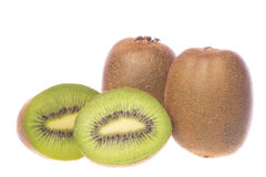 Kiwi Fruits Macro Isolated Royalty Free Stock Photo