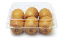 Kiwi Fruits in Plastic Container royalty free stock photography