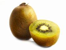 Kiwi fruit on a white table. stock photo