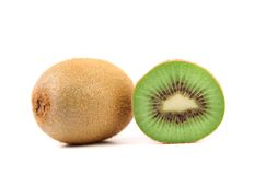 Kiwi fruits and slice. Close-up. Royalty Free Stock Image