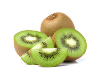 Kiwi fruits slice on white background Royalty Free Stock Photo