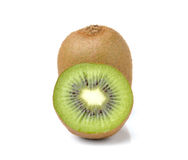 Kiwi fruits slice on white background Stock Image