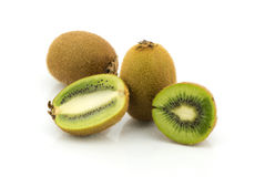 Kiwi fruits slice on white background Royalty Free Stock Photography