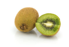 Kiwi fruits slice on white background Stock Photography