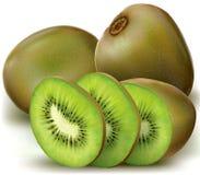 Kiwi fruits and sliced Stock Photo