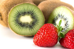 Kiwi fruits and strawberry Royalty Free Stock Photography