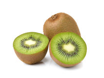 Kiwi fruits on white background Royalty Free Stock Photo