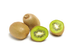 Kiwi fruits  on the white background Royalty Free Stock Photos