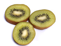 KIWI, frutta matura e succosa, isolata su bianco, macro Fotografia Stock Libera da Diritti