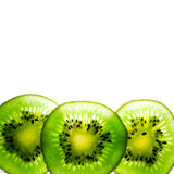 Kiwi geschnitten Lizenzfreies Stockfoto