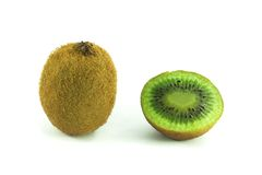 Kiwi getrennt auf Weiß Stockfotografie