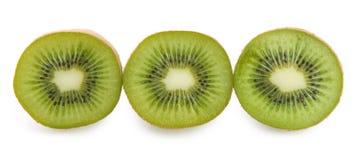 Kiwi getrennt auf weißem Hintergrund Stockbild