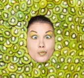 Kiwi girl Stock Photo