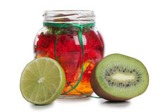 Kiwi and glass Stock Photo