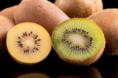 Kiwi gold and kiwi green Stock Image
