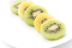 Kiwi and Golden Kiwi fruit Royalty Free Stock Photography