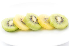 Kiwi and Golden Kiwi fruit Stock Image