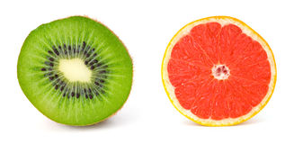 Kiwi and Grapefruit Stock Photo