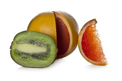 Kiwi and grapefruit Royalty Free Stock Images