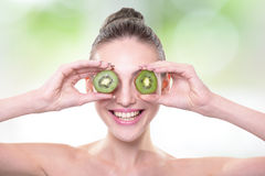 Kiwi is great for health Royalty Free Stock Photo