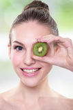 Kiwi is great for health Royalty Free Stock Image