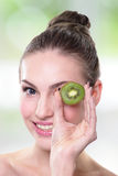 Kiwi is great for health Royalty Free Stock Photos