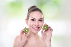 Kiwi is great for health Royalty Free Stock Images