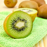 Kiwi on a green napkin Royalty Free Stock Image