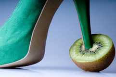 Kiwi with a green shoe Stock Photography